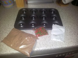 Donut kit: batter mix and sprinkles
