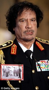 Gaddafi was pleased with the generous gift.