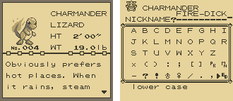 Pokemon Red Screenshot Charmander