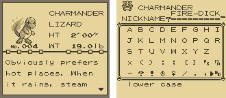 Pokemon Red Screenshot Charmander