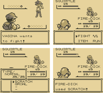 Pokemon Red Screenshot Fight