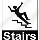 Thoughts of a Man Falling Down Some Stairs